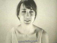 Babe Films Herself Masturbating (1960s Vintage)