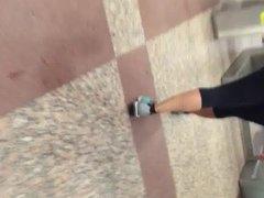 Athletic pawg milf in black yoga pants