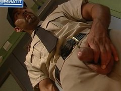 Jail Warden Dominates Submissive Prisoner