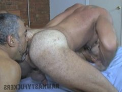 Hot Daddy Bareback Threesome