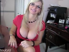 Big Tits in the Office!! Busty Vicky Vette Gets A Load!