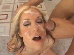 Horny babes facial compilation