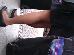 Pantyhose air hostess video 2