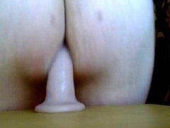 Dildo, Deepthroat and Cum in Ass