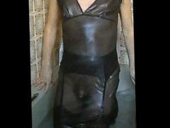 black dress in the bath
