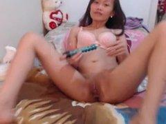 asian masturbate and creamy