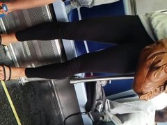 Cute lil asian with see thru yoga pants #3