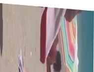 YELLOW BIKINI GIRL MASTURBATING ON THE BEACH