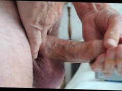Cum with finger in foreskin