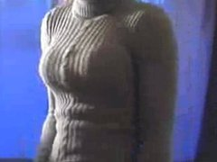 tranny in turtleneck sweater