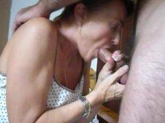older wife sucks hubby's cock
