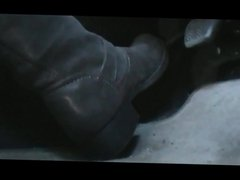 Driving in new grey boots from youtube