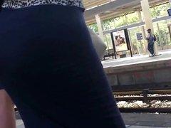 Spying Mature Big Bubble Butt - Pawg Milf - Ass Voyeur