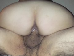 Wife cums all over older guys cock