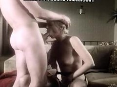Juliet Anderson, Ron Hudd in hot 80's porn video with double