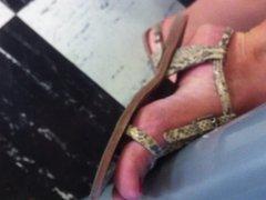 Candid feet sandals