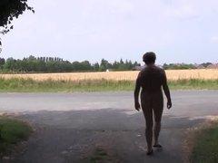 Nude in public nature