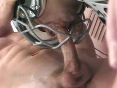 Blowjob through soccer helmet