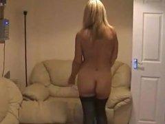 Sexy British MILF Stripping