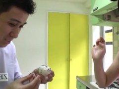 Japanese AV star bizarre rice balls armpit pressing Subtitle