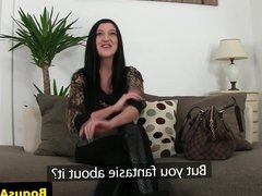 Casted euro pussyfucked before cumshot