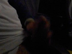 First time jerk in bus with cum