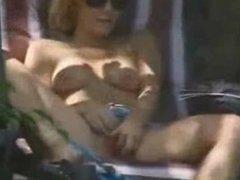 Caught my sister masturbating in court yard.