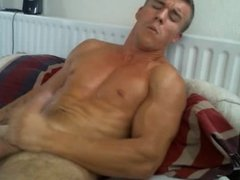 Handsome Horny Boy Cums Alls Over His Body, Huge Load