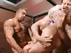 Cherry Thorn tied up and gang fucked 1