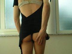 crossdresser sexy hot black dress