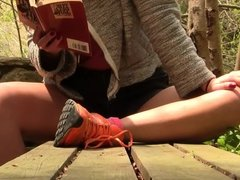 Vanessa Nikes resting front POV PREVIEW