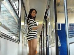 Nude girl in the train