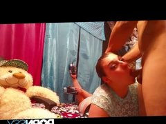 She gives bj and gets fucked