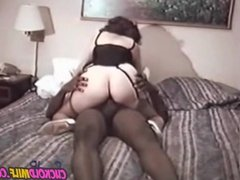 Cuckold MILF with hired BBC Sissy husband films w camera
