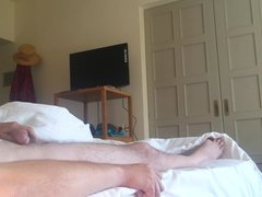 Wife jerks off my cock and make me cum
