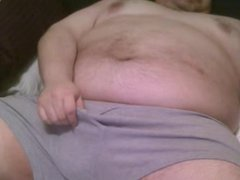 fat man jerking off to cam girl