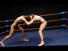 Blonde vs Redhead Wrestling