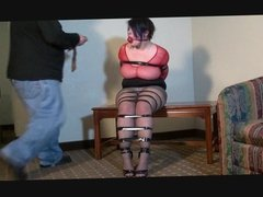 Chubby girl in bondage 2