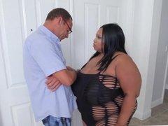 ebony BBW with massive tits