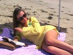 2 lesbian on the beach