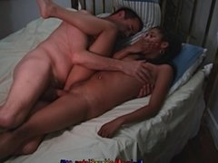 Tiny Black Girl Can't Handle Her First Big White Cock BWC