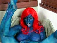 Mystique cosplay masturbating hard & screaming