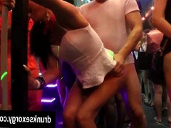 Bi slags gets tits and slits fucked in a club