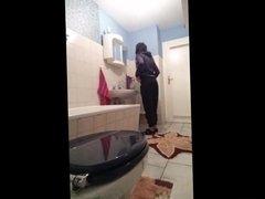 German girl on Toilet