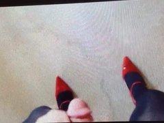Crossdresser in heels