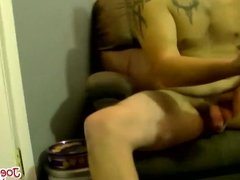 Chubby Bubba likes to jerk his tiny cock when he is alone
