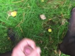 Cumming in the woods with nylon dress A1 Wildeshausen