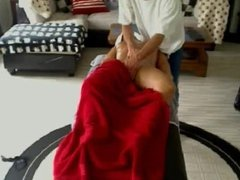 Hidden Massage Playing with Clients pussy