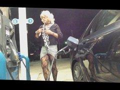 New Leggy Skirt Gas Station Flashing