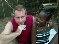 More INterracial Outdoor fuck Black Girl and White Guy